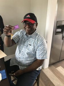 Victor N. receives his keys to his new home in Oakland. Victor is a veteran, and became homeless in January. He lived in his car, which made his health problems worse. After being hospitalized, he came to BACS and we were able to get him into housing. #HOUSED